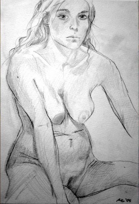 Akt Nr°0, Bleistift auf Papier