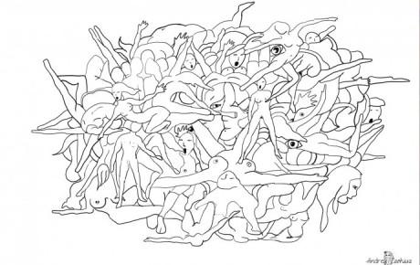 Die Orgie (Digitale Zeichnung)