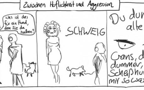 Zwischen Höflichkeit und Aggression (Digitale Zeichnung)