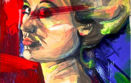 Selbstbildnis X (Acrylmalerei)