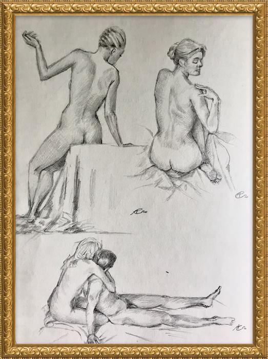 Akt Nr°3, Bleistift auf Papier