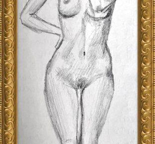 Akt-Zeichnung Nr°4