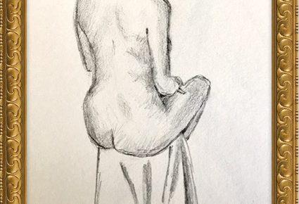Akt-Zeichnung Nr°8